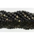 Hilo bola obsidiana dorada 8mm