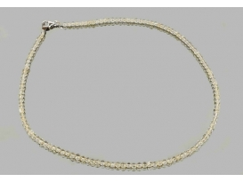 Collar citrino bola 4mm plata