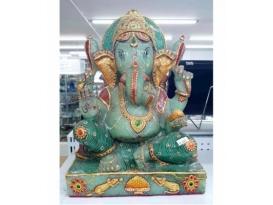 Ganesha cuarzo verde