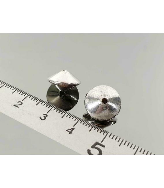 Fornitura plata doble cono 8 x 12 mm (8ud)