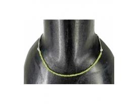 Collar facetado macrame olivino
