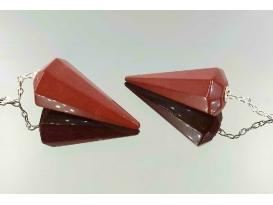 Péndulo de jaspe rojo (2ud)