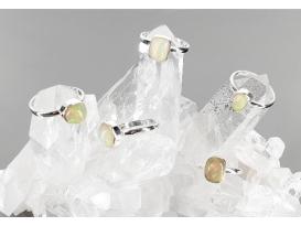 Anillo adaptable cabujon opalo plata
