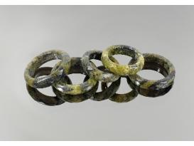 Anillo facetado jaspe serpiente (5ud)