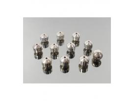 Fornitura plata bola tallada 8MM (14ud)