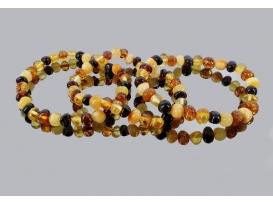 Pulsera ambar multicolor rodado irregular