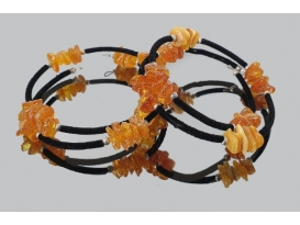 Pulsera espiral chip ambar