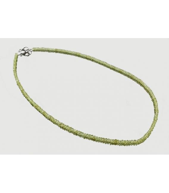 Collar lenteja tallada olivino 3mm