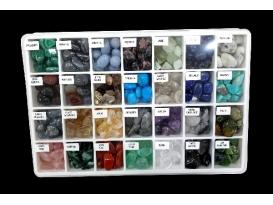 Expositor 28 minerales rodados