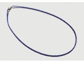 Collar lapislazuli tallada 2 mm