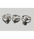 Anillo adaptable perla gris plata