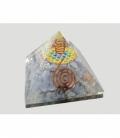 Pirámide orgonite flor de la vida 7x7cm angelita