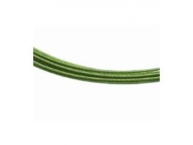 Gargantilla acero verde (10ud)