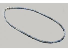 Collar bola tallada turmalina azul 2mm