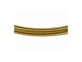 Gargantilla acero oro viejo (10ud)