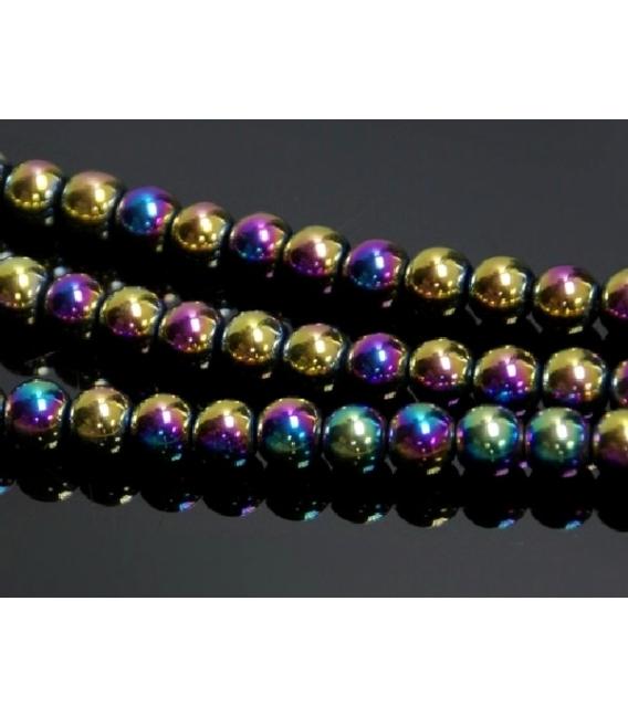 Hilo bola hematite color arcoiris 6mm