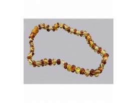 Collar bola irregular ambar bicolor