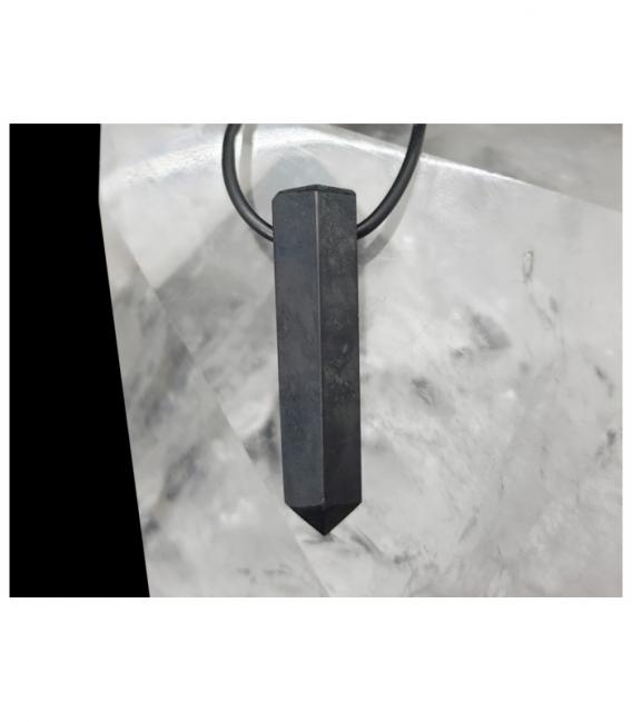 Colgante punta agujereada shungita (5ud)