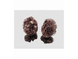Anillo drusa aqua aura marrón (2ud)