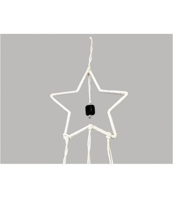 Atrapasueños estrella de David con turmalina