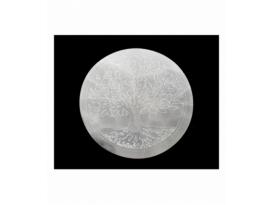 Disco selenita arbol de la vida 10 cm