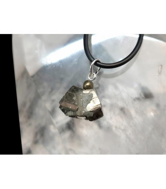Colgante variado pirita plata (5ud)