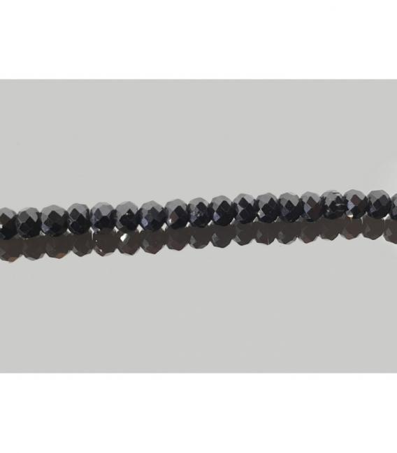 Collar lenteja tallada espinela 4mm