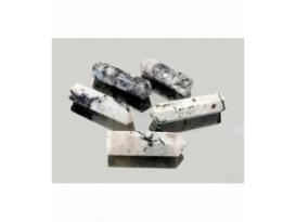 Colgante punta agujereada piedra luna(5ud)