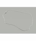 Cadena plata  eslavon triple 3 anillas 45cm  (3UD)