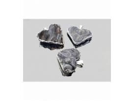 Colgante corazon calcedonia (3ud)