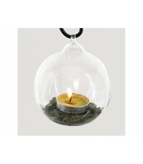 Portavela corazon esfera jade