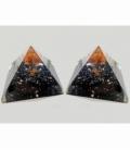 Piramide orgonite 9x9cm shungita con arbol carneola