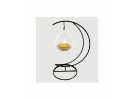 Portavela luna esfera citrino