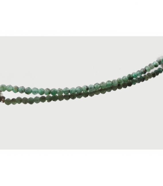 Pulsera facetada macrame esmeralda