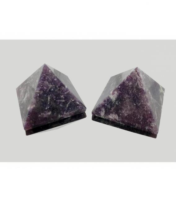 Piramide de mica lepidolita 50 a 70 mm (1kg)