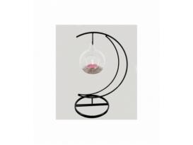 Portavela luna esfera cuarzo rosa