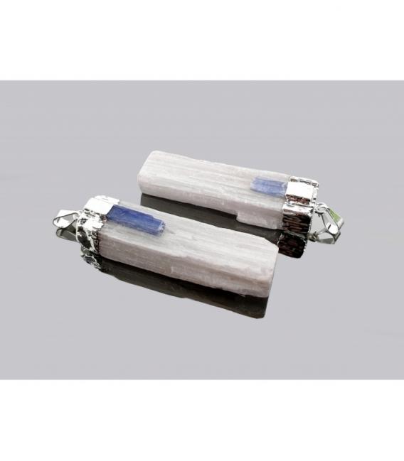 Colgante barra selenita con cianita electrolitico (3ud)