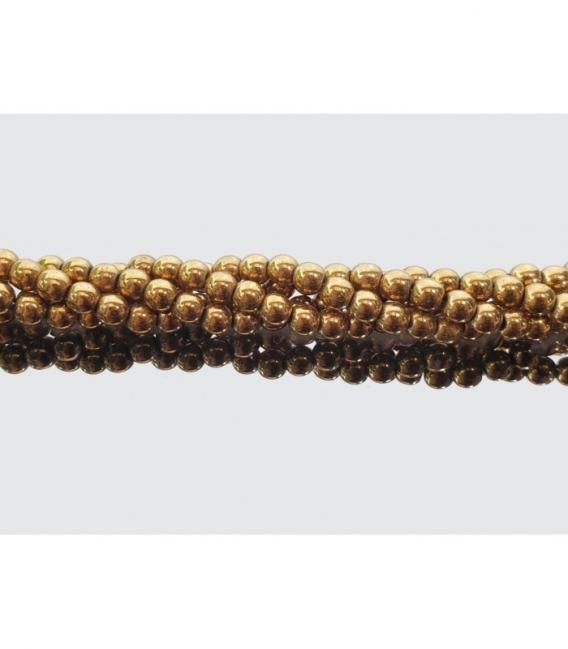 Hilo bola hematie colo oro 3mm