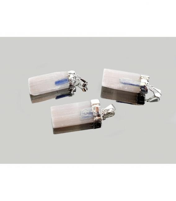 Colgante barra selenita y cianita electrolitico (3ud)