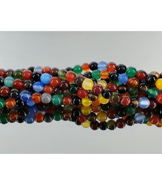 Hilo bola agata multicolor 10mm