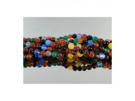 Hilo bola agata multicolor 8mm