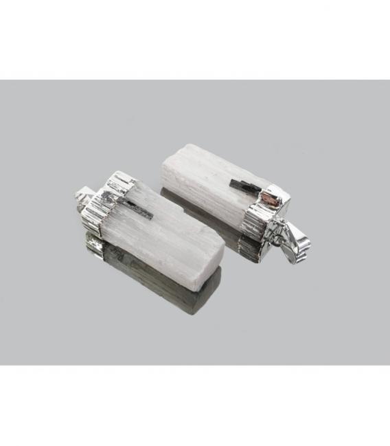Colgante barra selenita/ turmalina electrolitico (3ud)