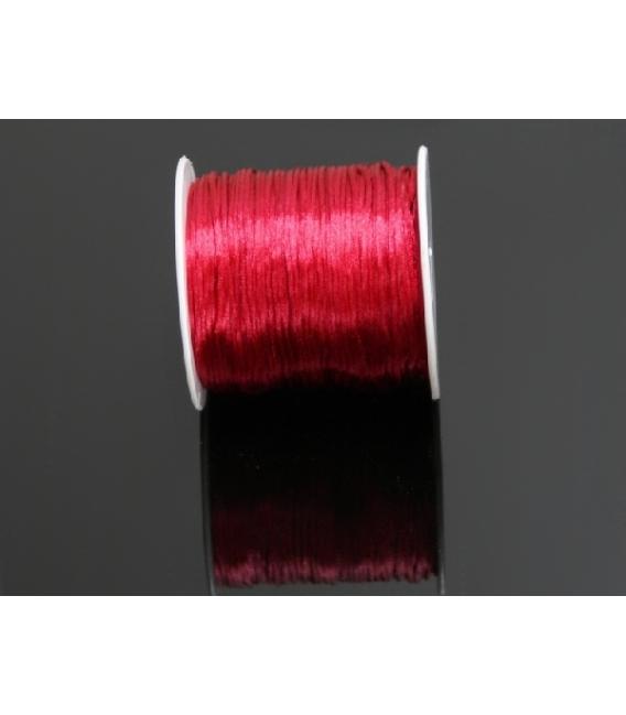 Rollo cordón cola de raton seda rojo (100mts)