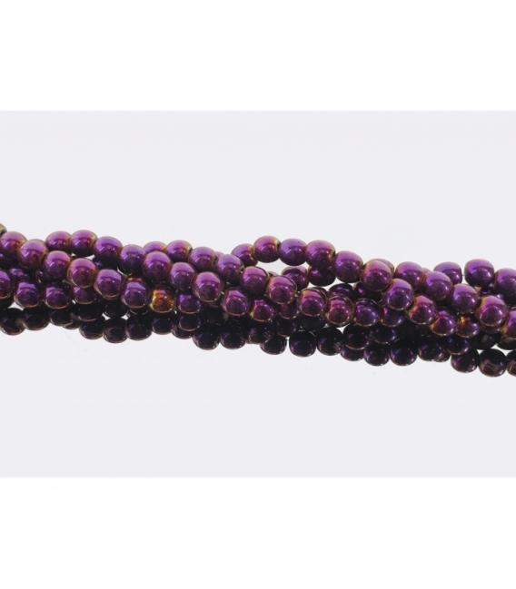Hilo bola hematite color purpura 6mm