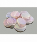 Rodado plano cuarzo aura rosa (250gr)