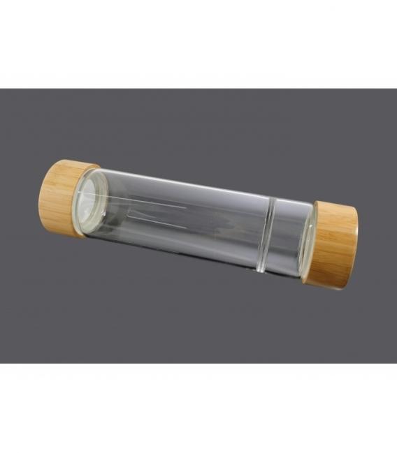 Botella cristal bambú