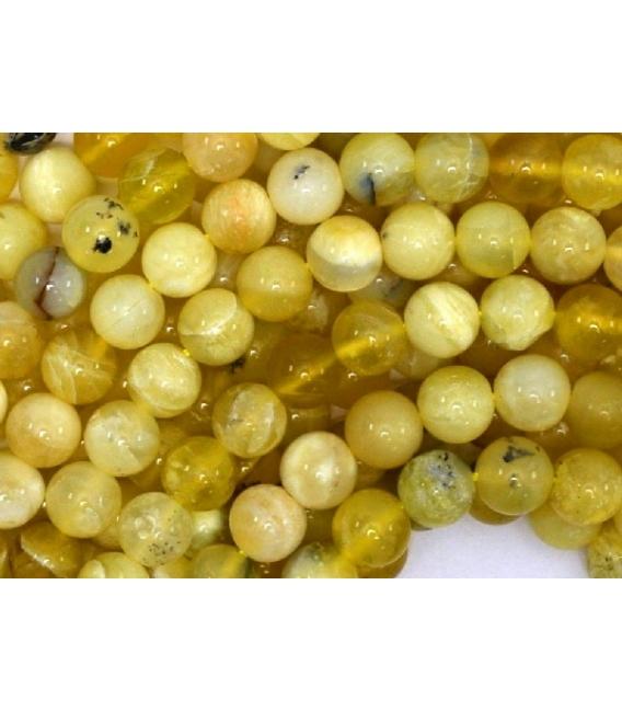 Hilo opalo amarillo 10mm