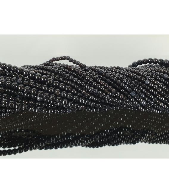 Hilo bola obsidiana negra 4mm