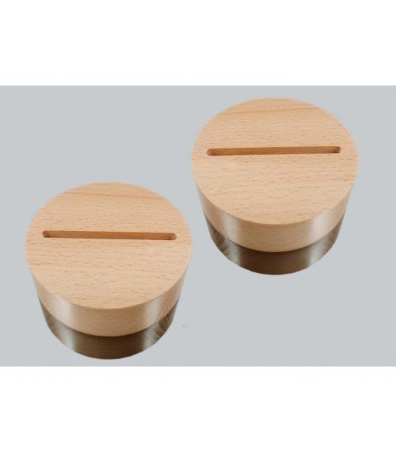Lote base de madera clara ranurada (10ud)