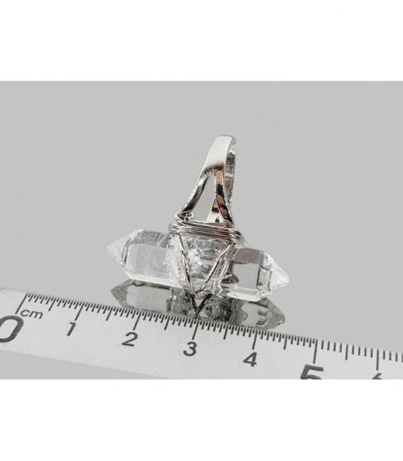 Anillo adaptable acero hipoalergénico biterminado cuarzo